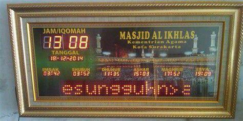 Jadwal Sholat Digital Jam Masjid Waktu Sholat Rt Series harga jam digital elektro