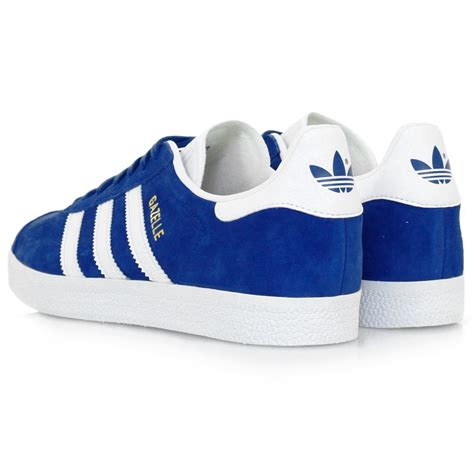 adidas originals gazelle royal blue suede shoe