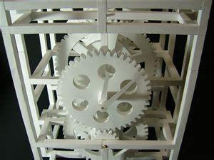 Papercraft Clock - glue 178 chronicle paper pendulum clock