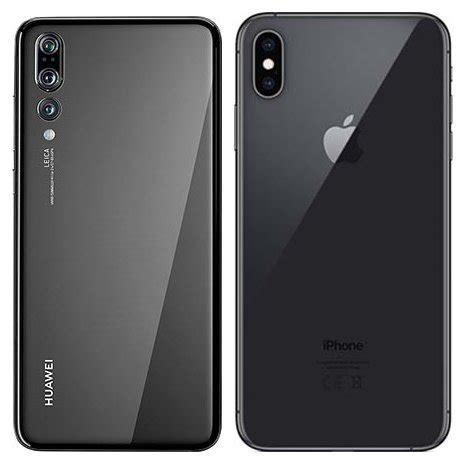 compare smartphones huawei p pro  apple iphone xs max