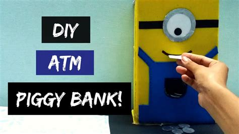 How To Make A Piggy Bank Out Of Paper Mache - how to make atm piggy bank at home diy piggy bank atm