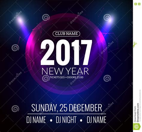 New Year Party Design Banner Event Celebration Flyer Template New Year Festive Poster Celebration Flyer Template