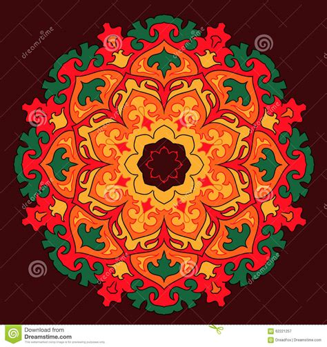 colorful sun vector mandala colorful sun stock illustration image