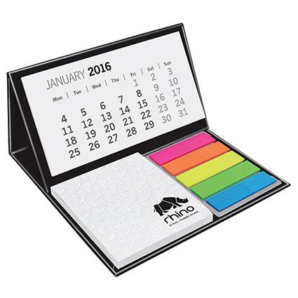sticky note desk calendar mini calendar pods personalised calendars promotional
