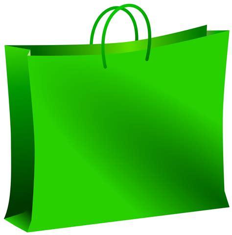 clipart green bag