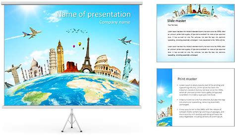Travel Tour Powerpoint Template Backgrounds Id 0000005360 Smiletemplates Com Microsoft Powerpoint Templates Tourism