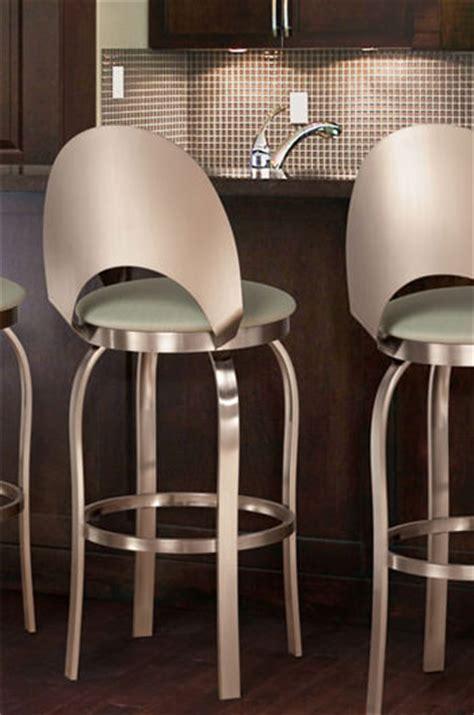 trica grace 30 brushed steel bar stool w swivel trica chagne modern swivel stool w brushed steel