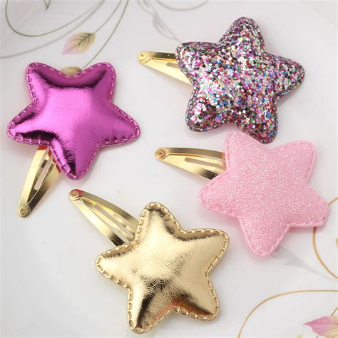 shiny hair accessories children baby beautiful new arrival summer style metal color children shiny