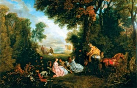 what kinds of colors were favored by rococo painters painting jean antoine watteau encyclopedia
