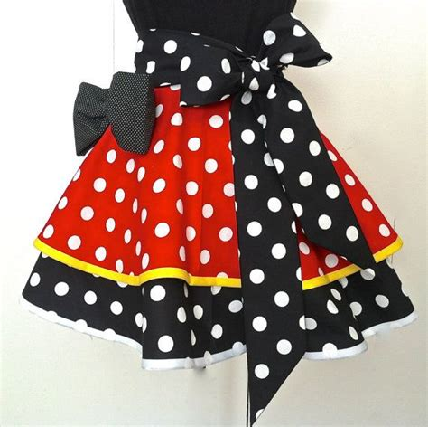 Minnie Mouse Apron Size 4 6 Yo half apron minnie mouse and aprons on