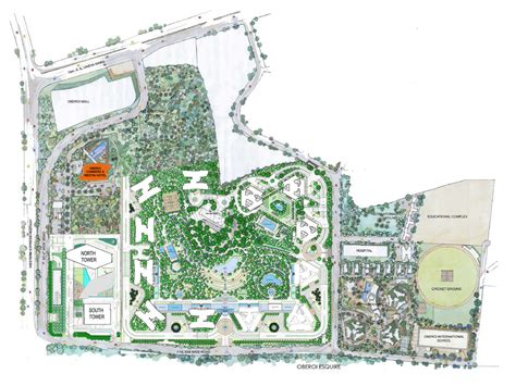layout plan of garden city the westin mumbai garden city oberoi realty