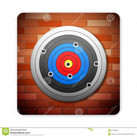 Target Wall L by Brick And Target Stock Vector Image 57699904
