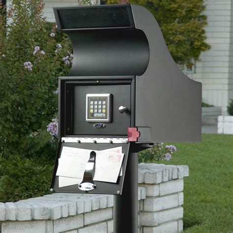 mailbox for secure mail vault keyless locking mailbox the green