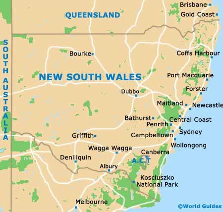 map of new south wales australia sydney orientation layout and orientation around sydney