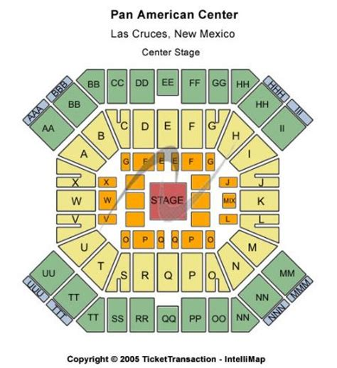 pan am center seating map pan american center tickets and pan american center