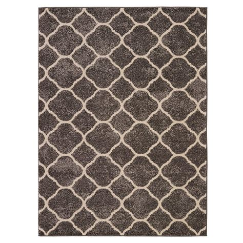 Sculpted Area Rugs Collection Contemporary Sculpted Effect Moroccan Trellis Grey 5 Ft 3 In X 7 Ft 3