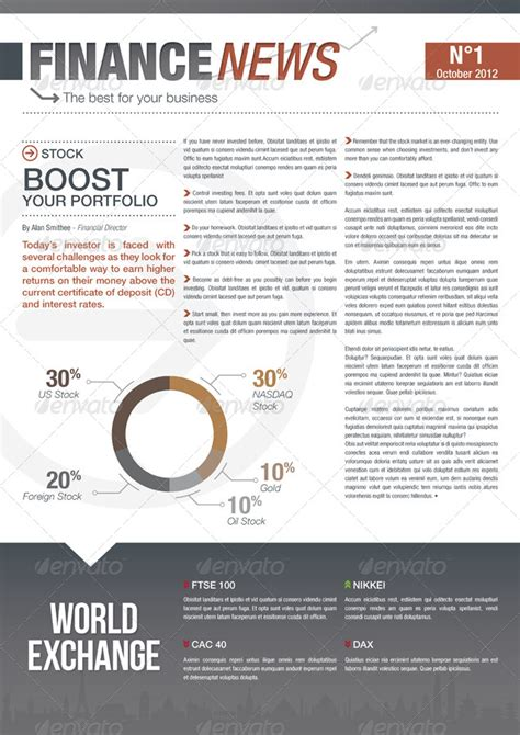 Finance Newsletter finance and business newsletter by niklofr graphicriver