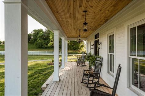 modern farmhouse porch rustic modern farmhouse covered porch with swinging chairs