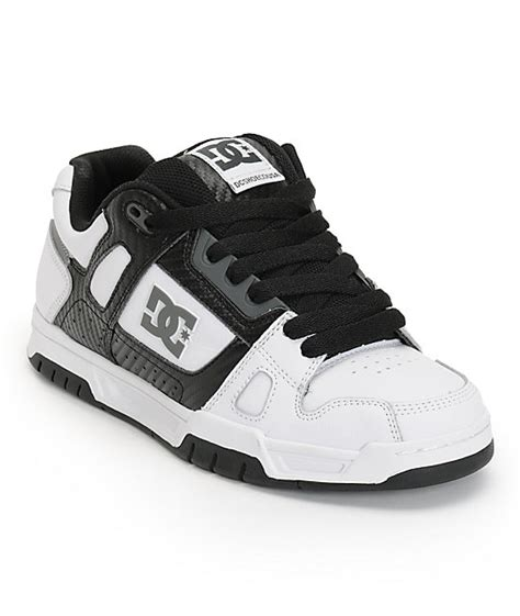 Sket Dc Black White dc stag white black carbon fiber skate shoes