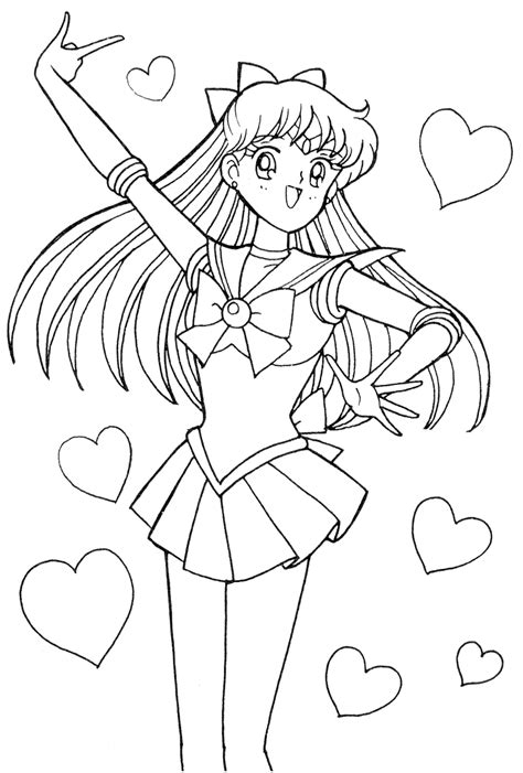 sailor moon coloring pages venus www pixshark com