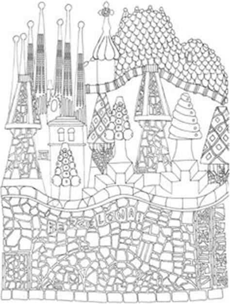 gaudi colouring gaudi barcelona 8499369855 dibujos para colorear de monumentos plantillas para colorear de pictogramas y dibujos