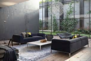 Appealing black living room color ideas with black loveseat and white