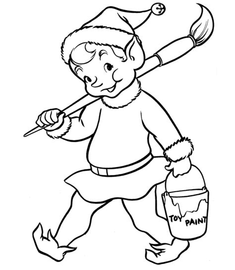 cute elf coloring pages az coloring pages