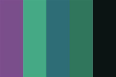 greenish blue color shaded purple mix of greenish blue color palette