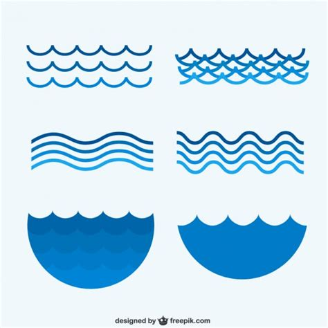 collection of simple wave vector illustration of waves vectors photos and psd files free