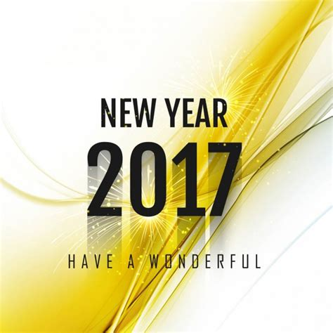 new year and yellow abstract new year background 2017 with yellow detail