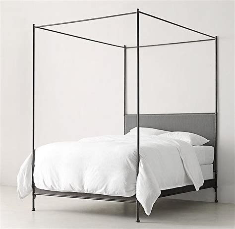 Black Metal Canopy Bed Caleigh Black Iron Canopy Bed