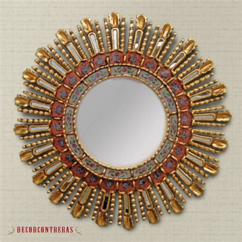 Handmade Decorative Mirrors - handmade medium antique decorative wall mirror cuzco
