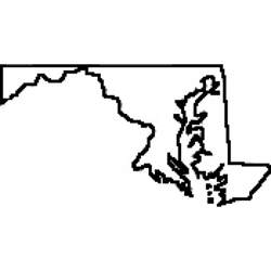 Maryland State Outline Map by State Of Maryland Outline Map Rubber St