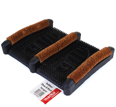 Boot Scraper Mats Outdoor by Heavy Duty Rubber Mat Coir Door Mat Floor Mat Boot Shoe