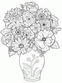Galerry flower in vase coloring pages