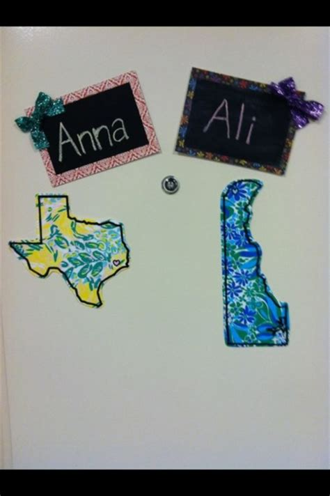 simple card stock door decs with names as make and