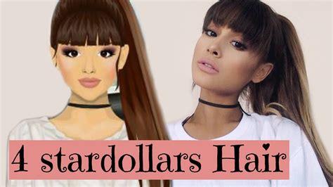 back to school hairstyles ariana grande stardoll ariana grande hair design tutorial 4 stardollars