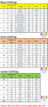 Size Chart Sandal Boho Dewasa tabel ukuran baju anak aaa stocklot baju anak branded