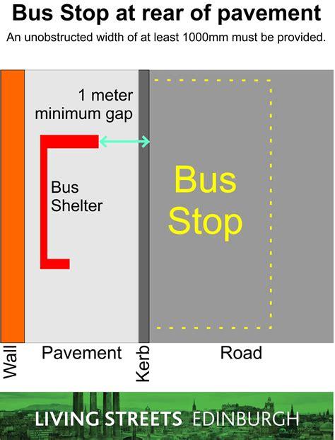 design guidelines for bus stops bus stops living streets edinburgh