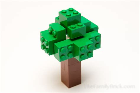 Lego A build a lego minecraft tree the family brick