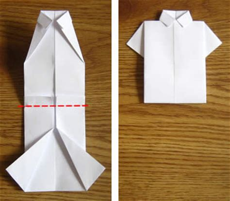 How To Make A Paper Shirt And Tie Card - money origami shirt folding