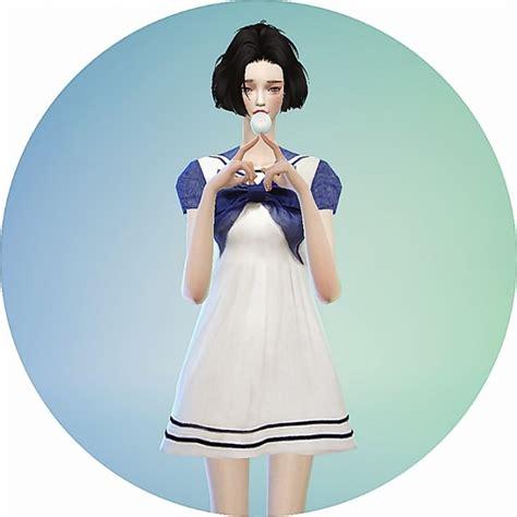 Dress Ribbon 4 ribbon sailor onepiece dress at marigold 187 sims 4 updates