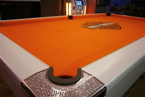 orange pool table cloth supreme winner pool table white with free uk delivery iq