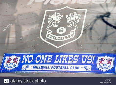 fan for backseat of car stickers in the back of a millwall football fan s car