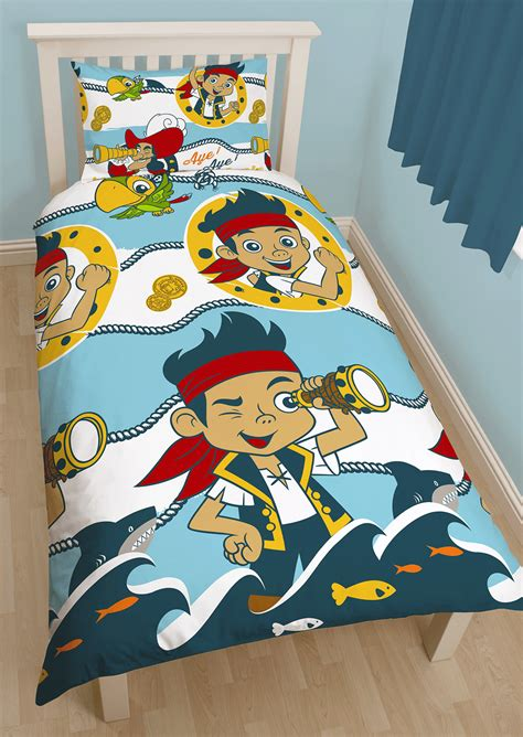 Jake And The Neverland Bedding by Disney Jake The Neverland Sharks Single Duvet Quilt Cover Bedding Set Ebay