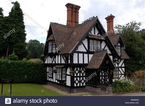 esl buying a house old english tudorbethan house with two chimneys part of ragley hall stock photo