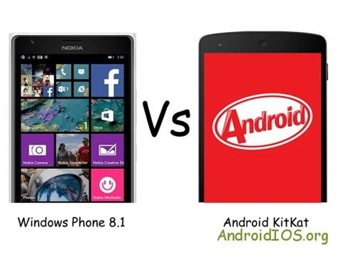 windows 8 1 for android windows phone 8 1 против android kitkat