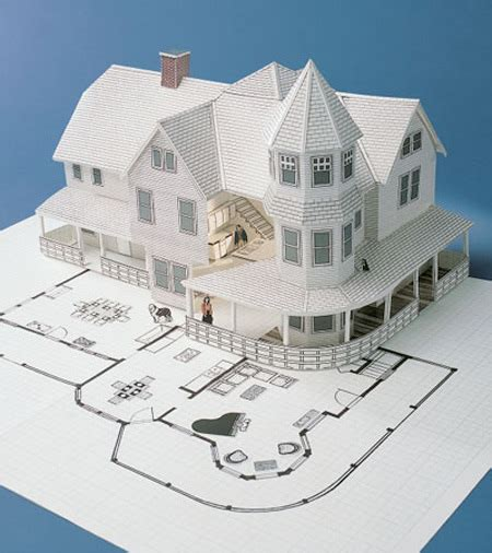 How To Make A 3d House Out Of Paper - best photos of 3d house paper patterns paper