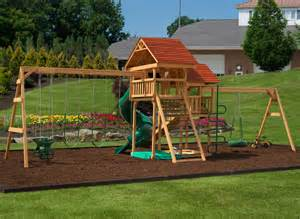 Backyard Jungle Gym Plans Play Mor 525 Jump For Joy Wooden Swing Sets