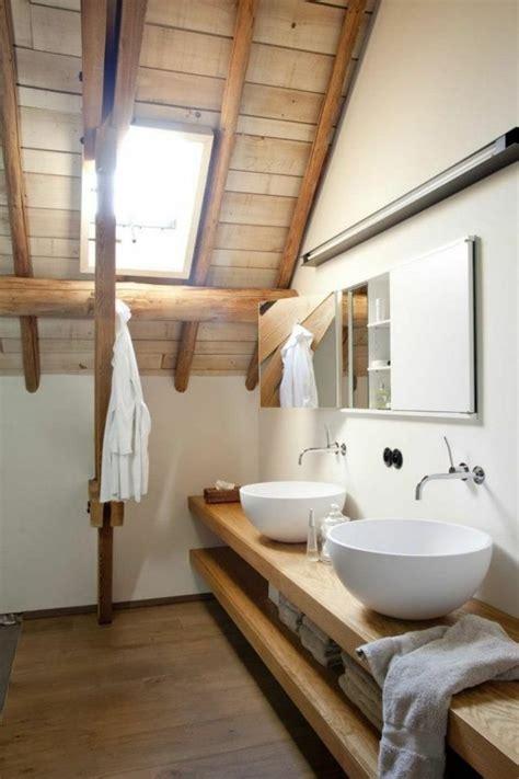 Echtholz Fensterbank by Meuble Salle De Bain Bois 35 Photos De Style Rustique